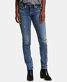 Silver Jeans Co. Suki Ripped Slim-Leg Jeans