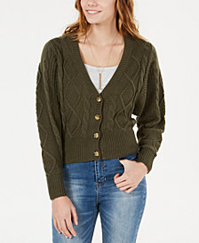 American Rag Juniors' Dolman-Sleeved Button-Front Cardigan, Created for Macy's