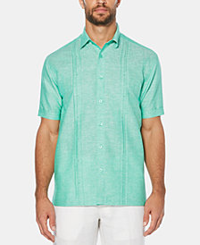 Cubavera Men's Crossdyed Linen Short-Sleeve Shirt