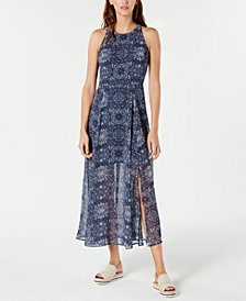 Tommy Hilfiger Printed Maxi Dress, Created for Macy's