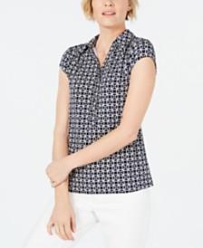 Charter Club Geo-Print Polo Shirt, Created for Macy's