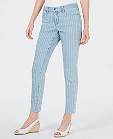 Charter Club Bristol Striped Tummy-Control Jeans, Created for Macy's