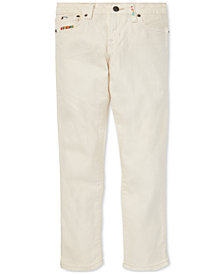 Polo Ralph Lauren Big Girls Embroidered Waverly Straight Stretch Jeans