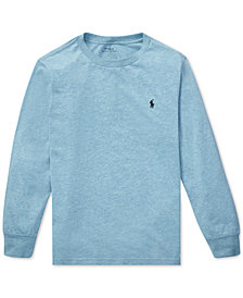 Polo Ralph Lauren Toddler Boys Long-Sleeve Cotton T-Shirt