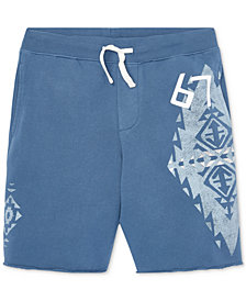 Polo Ralph Lauren Big Boys French Terry Graphic Cotton Shorts