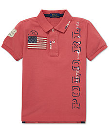 Polo Ralph Lauren Little Boys Graphic Cotton Mesh Polo