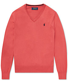 Polo Ralph Lauren Big Boys Cotton V-Neck Sweater