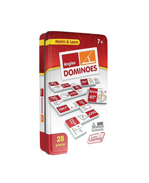 Junior Learning Angles Dominoes Match and Learn Educational Learning Game