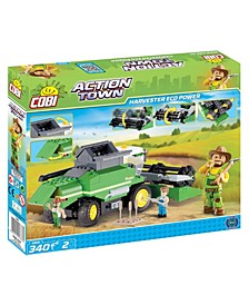 Action Town ECO Power Combine Harvester 350 Piece Construction Blocks Building Kit