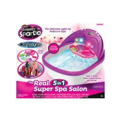 Cra Z Art Shimmer N Sparkle Crazy Lights The Real 5 in 1 Super Spa Salon