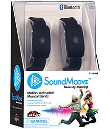 Cra Z Art SoundMoovz Musical Bandz, Motion Activated, Bluetooth Music player Black