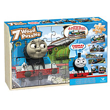 Thomas and Friends 7 Wood Jigsaw Puzzles in Wood Storage Box