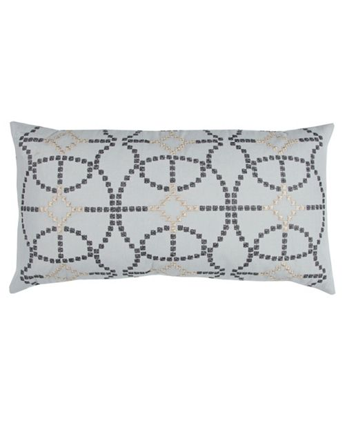 "Rizzy Home Donny Osmond 14"" x 26"" Geometrical Design Down Filled Pillow"