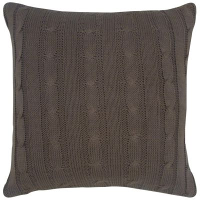 "18"" x 18"" Cable Knit Down Filled Pillow"