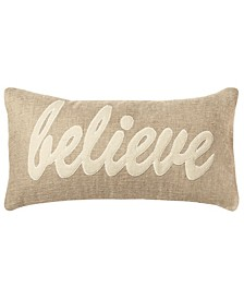 """11"""" x 21"""" Typography Down Filled Pillow"""