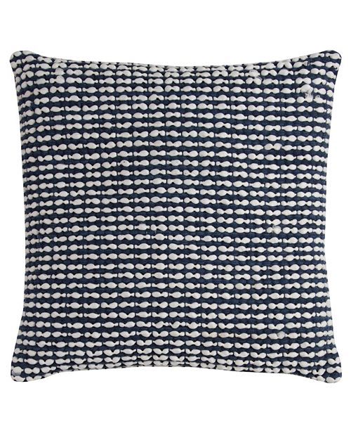 """Rizzy Home 20"""" x 20"""" Striped Textured Down Filled Pillow"""