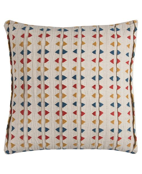 """Rizzy Home 20"""" x 20"""" Striped Pillow Down Filled"""
