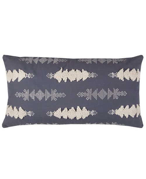 """Rizzy Home 14"""" x 26"""" Striped Down Filled Pillow"""