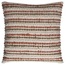 """20"""" x 20"""" Striped Down Filled Pillow"""