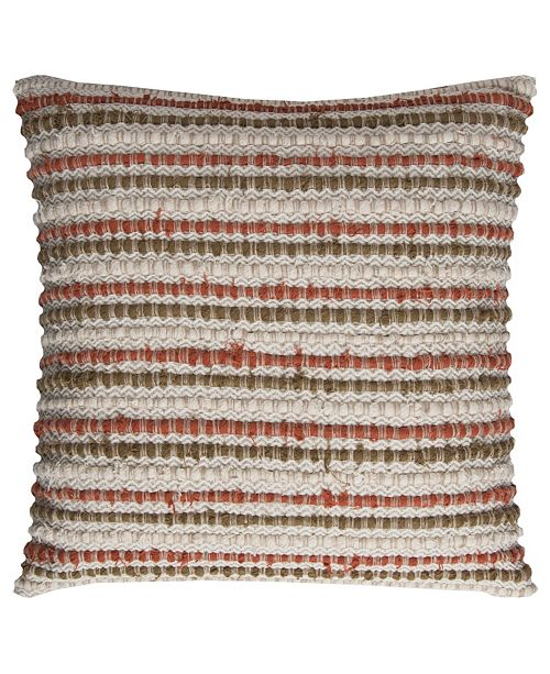 """Rizzy Home 20"""" x 20"""" Striped Down Filled Pillow"""