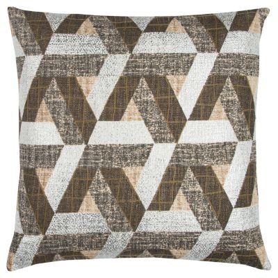 "Textured 20"" x 20"" Geometric Design Pillow Down Filled"