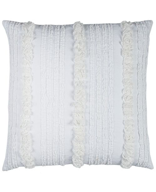 """Rizzy Home 20"""" x 20"""" Vertical Deconstructed Stripe Pillow Down Filled"""