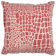 """Rizzy Home 22"""" x 22"""" Animal Print Down Filled Pillow"""