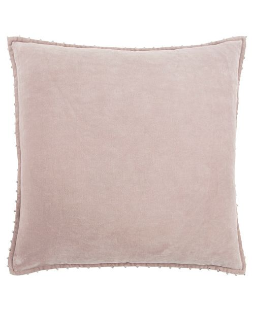 """Rizzy Home Solid 22"""" x 22"""" Down Filled Pillow"""