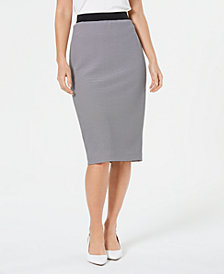 Alfani Ottoman Striped Midi Skirt, Created for Macy's