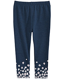 First Impressions Toddler Girls Flower-Border Leggings, Created for Macy's