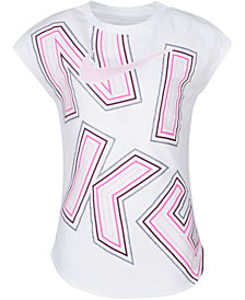 Nike Toddler Girls Logo-Print Cotton T-Shirt