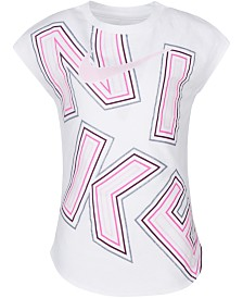 Nike Little Girls Logo-Print Cotton T-Shirt