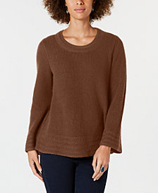 Style & Co Petite Scoop-Neck Sweater, Created for Macy's