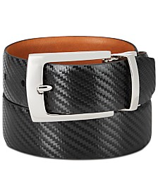 Tallia Men's Textured Leather Belt