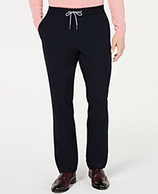 Tasso Elba Men's Textured Knit Jogger Dress Pants, Created for Macy's