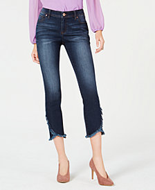 I.N.C. Petite Cropped Tulip-Hem Skinny Jeans, Created for Macy's