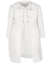 Blueberi Boulevard Little Girls 2-Pc. Brocade Coat & Dress Set