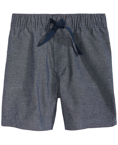 First Impressions Toddler Boys Cotton Chambray Shorts, Created for Macy's