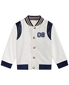 First Impressions Baby Boys Varsity Jacket, Created for Macy's