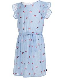 Tommy Hilfiger Big Girls Cherry-Print Chiffon Dress