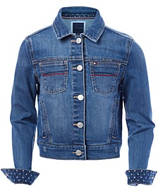 Big Girls Embroidered Denim Jacket