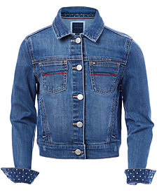 Tommy Hilfiger Big Girls Embroidered Denim Jacket