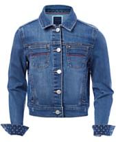 cf52176204ec Tommy Hilfiger Big Girls Embroidered Denim Jacket