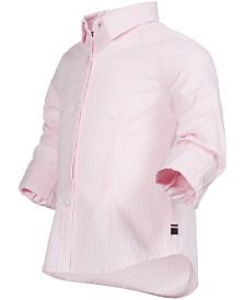 Tommy Hilfiger Toddler Girls Striped Cotton Shirt