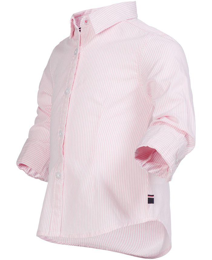 Tommy Hilfiger - Little Girls Ithaca Striped Cotton Shirt