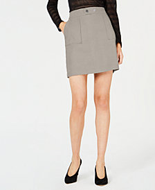 I.N.C. Petite Faux-Suede Mini Skirt, Created for Macy's