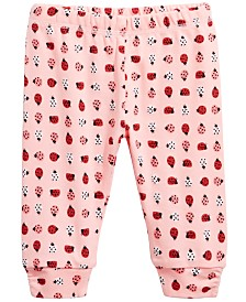 First Impressions Baby Girls Ladybug Cotton Jogger Pants, Created for Macy's