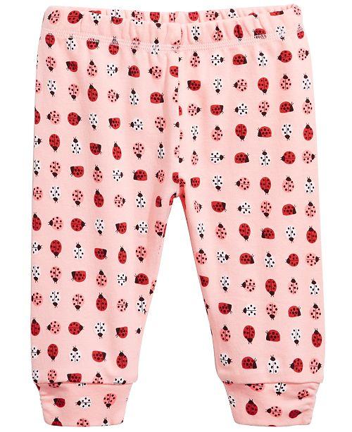 56ecde7f2c Baby Girls Ladybug Cotton Jogger Pants, Created for Macy's