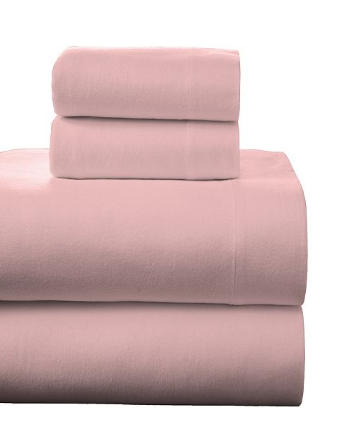 Pointehaven Superior Weight Cotton Flannel Sheet Set - Full