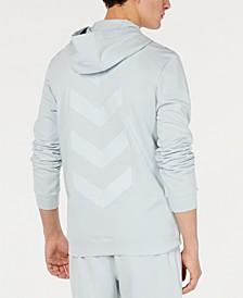 Men's Quarter-Zip Chevron Graphic Hoodie, Created for Macy's